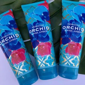Bath Body works Morocco orchid pink amber cream
